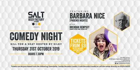 Kill For A Seat Comedy with Barbara Nice tickets