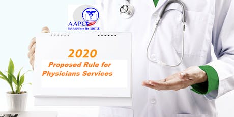 """""""2020 Proposed Rule for Physicians Services"""" tickets"""