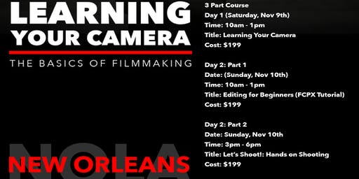 Learning Your Camera: The Basics of Filmmaking Full Course