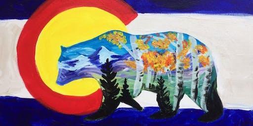 Fall Colorado bear painting class
