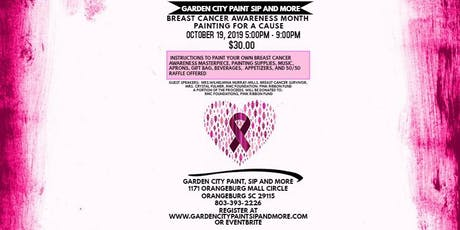 BREAST CANCER AWARENESS MONTH PAINTING FOR A CAUSE- GARDEN CITY PAINT & SIP tickets