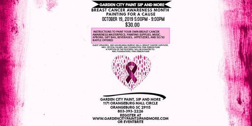 BREAST CANCER AWARENESS MONTH PAINTING FOR A CAUSE- GARDEN CITY PAINT & SIP