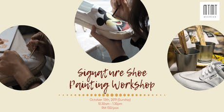 Signature Shoe Painting Workshop - October tickets
