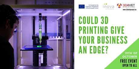 Could 3D Printing Give Your Business an Edge? tickets