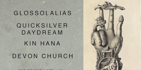 Rooftop show! Glossolalias, Quicksilver Daydream, Kin Hana, Devon Church tickets