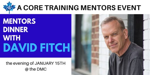 Dinner with David Fitch (private event by invitation only)
