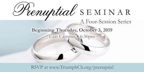 Triumph Prenuptial Seminar - Fall 2019 tickets