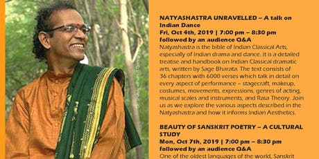 Dr. SHATAVADHANI R GANESH - Lecture Series Lectures on Dance, Poetry, and Literary Performance tickets