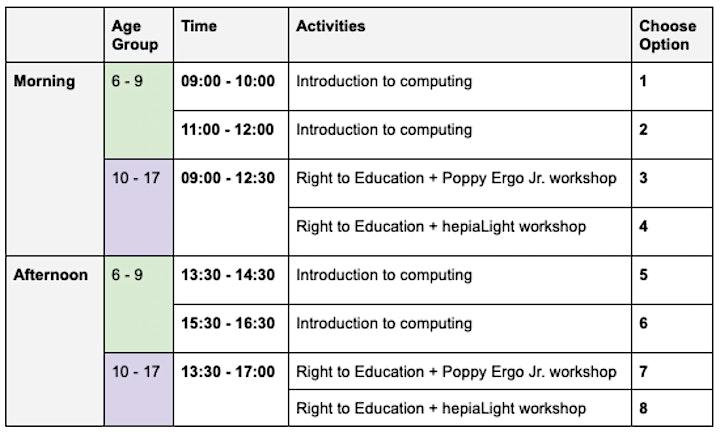 Programming, robotics and rights for girls at EU Code Week EN/FR image