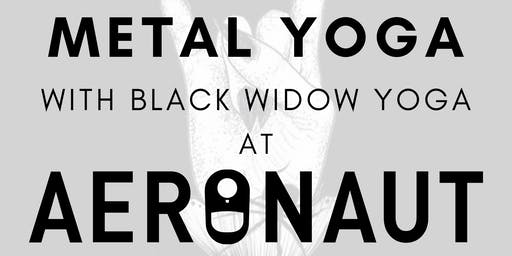 MEGADETH VS METALLICA Yoga with Black Widow Yoga at Aeronaut Brewing Co.