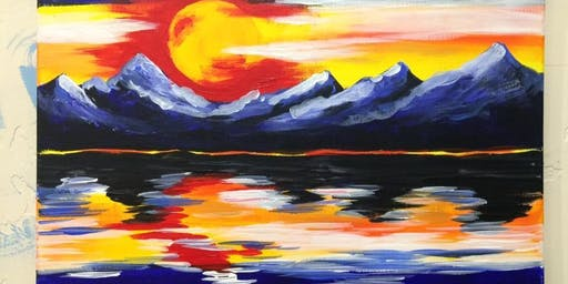 Colorado sunset painting class