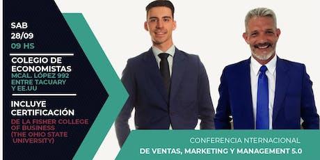 Conferencia Internacional de Ventas, Marketing y Management 5.0 entradas