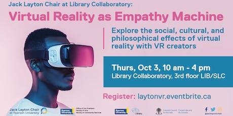 Virtual Reality as Empathy Machine tickets