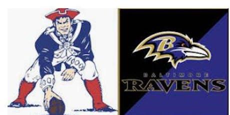 PATS-Ravens Transportation & Tailgate tickets