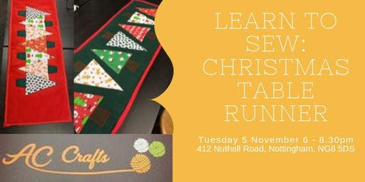 Learn to Sew: Christmas Table Runner