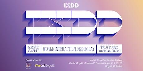 Día Internacional del Diseño de Interacción - Confianza y Responsabilidad entradas