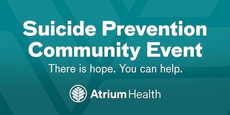 Atrium Health's Suicide Prevention Community Event tickets