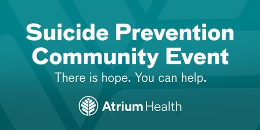 Atrium Health's Suicide Prevention Community Event