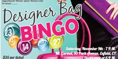 Designer Purse Bingo tickets