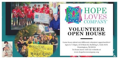 Hope Loves Company's Volunteer Open House in Pennington, NJ tickets