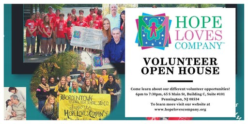 Hope Loves Company's Volunteer Open House in Pennington, NJ