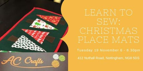 Learn to Sew: Christmas Placemats tickets