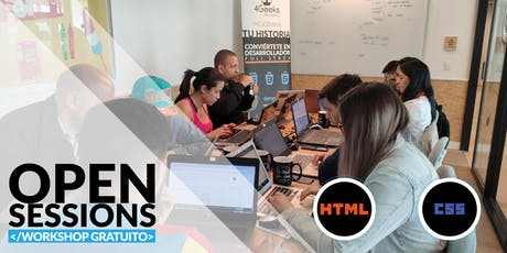 Open Sessions: WORKSHOP GRATUITO principios básicos de HTML y CSS  entradas
