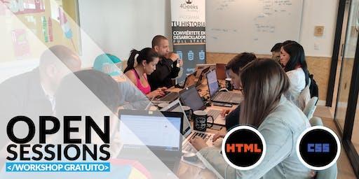Open Sessions: WORKSHOP GRATUITO principios básicos de HTML y CSS