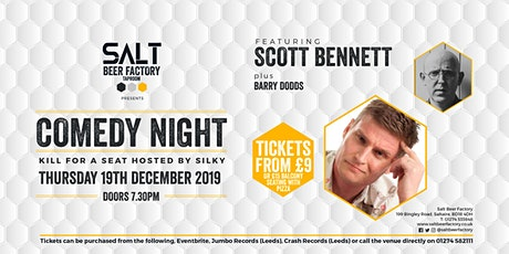 Kill For A Seat Comedy with Scott Bennett tickets
