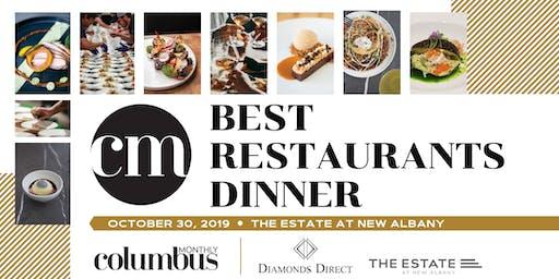 Columbus Monthly's Best Restaurants Dinner 2019