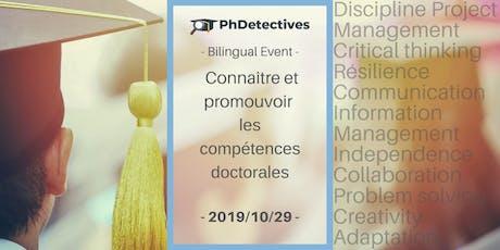 PhDetectives  : Connaître et promouvoir les compétences doctorales billets