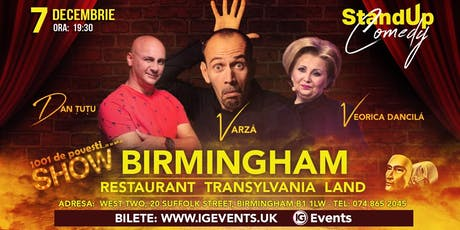 Birmingham  Stand Up Comedy - Dan Tutu, Varza si Veorica Dancila tickets
