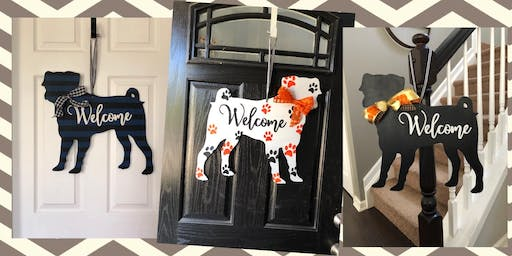 Paint a Pug Door Hanger Party