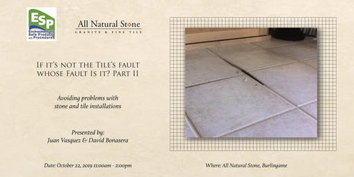 If It's Not the Tile's Fault, Whose Fault is It? Part II