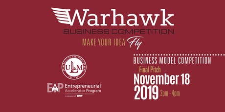 Warhawk Pitch 2019 – ULM Top 6 Final Pitch tickets