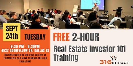 September 24th: Real Estate Investor 101 Training tickets