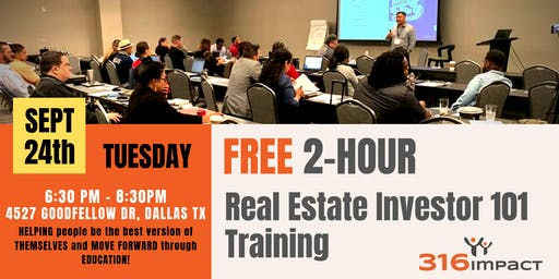 September 24th: Real Estate Investor 101 Training