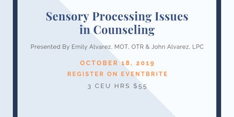 Working with Sensory Issues in Individuals tickets