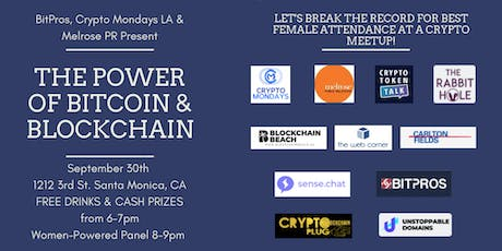 CryptoMondays L.A: RECORD BREAKING WOMEN'S NIGHT! tickets