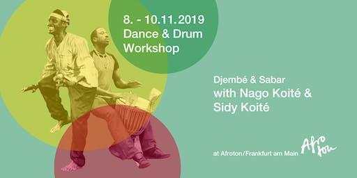 Tanz- und Trommelworkshop mit Nago und Sidy Koité 8.-10.November 2019