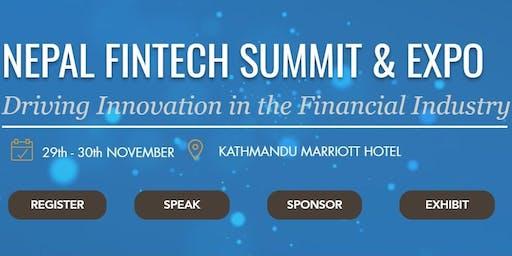 Nepal Fintech Summit & Expo 2019 l 29-30 Nov l Marriot