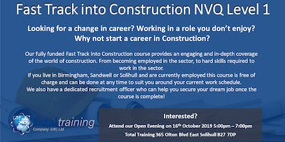 Total Training Fast Track into Construction Open Evening