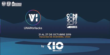 UNAMxHacks Conferencias + CONISOFT 2019 boletos