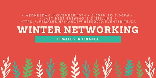 Females in Finance: Winter Networking Event