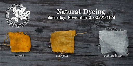 Gibbet Hill Farm Field School •Natural Fabric Dyeing