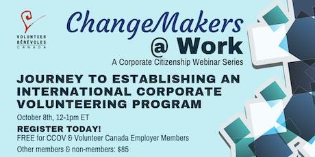 Journey To Establishing An International Corporate Volunteering Program tickets