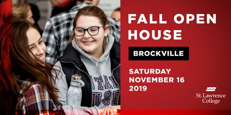 Fall Open House Brockville Campus 2019 tickets