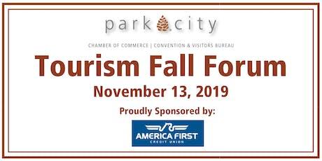 Park City Chamber/Bureau: 2019 Tourism Fall Forum & Lunch tickets