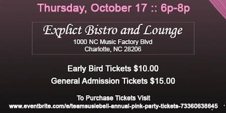 TeamSusieBell Annual Pink Party (PPW) tickets