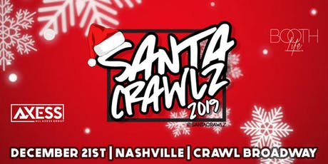 Santa Crawlz down Broadway in Nashville Bar Crawl tickets